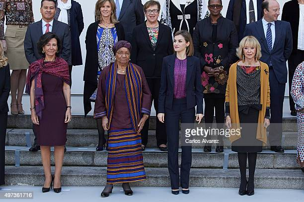 Banco Santander Chairman Ana Patricia Botin Liberian President Ellen Johnson Sirleaf Queen Letizia of Spain and Mujeres Por Africa Foundation...