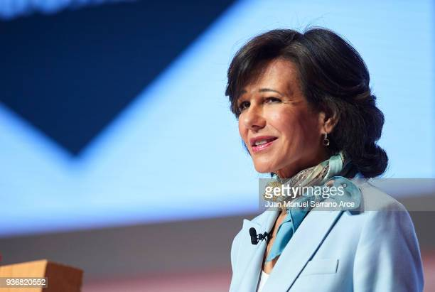 Banco Santander Chairman Ana Patricia Botin speaks during the Santander Bank Shareholders Meeting on March 23 2018 in Santander Spain