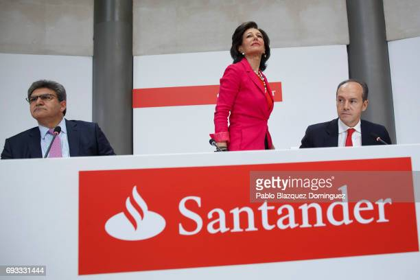 Banco Santander Chairman Ana Patricia Botin stands up during a news conference at the Bank's Castellana building on June 7 2017 in Madrid Spain Banco...