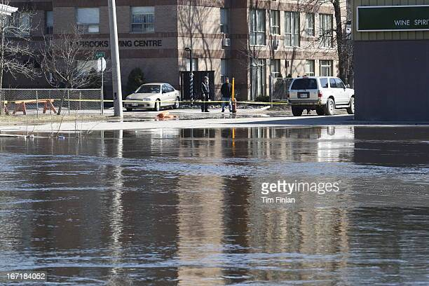 Bancroft braces for more flooding as the York River rises Sunday April 21 2013 Parts of the downtown were sandbagged and blocked after the Town of...