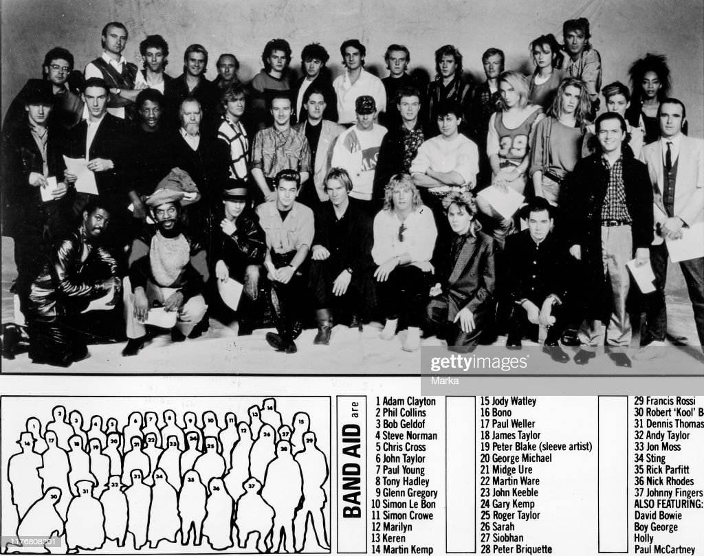 Band aid. 1984 : News Photo