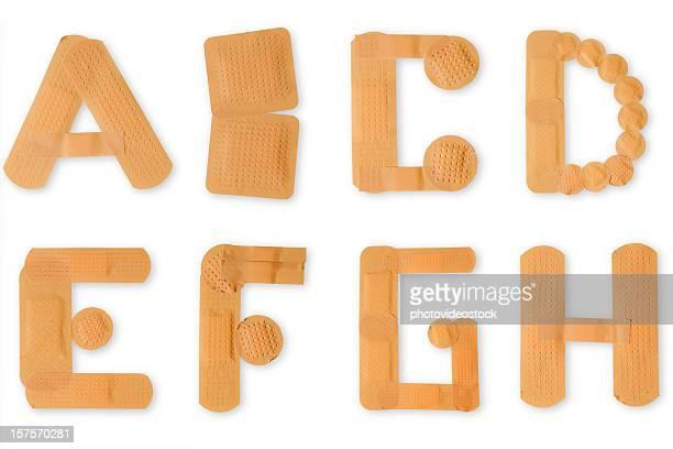 Band-aid alphabet (Tracés de détourage