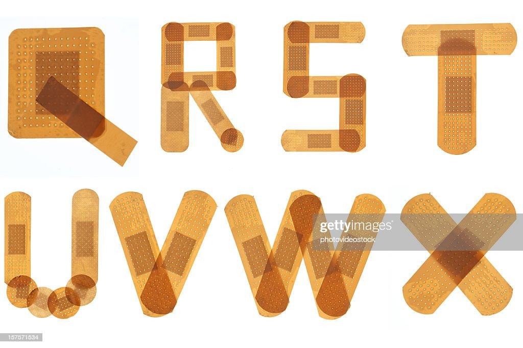 Band Hilfe Schriftart Alphabet Stock-Foto | Getty Images