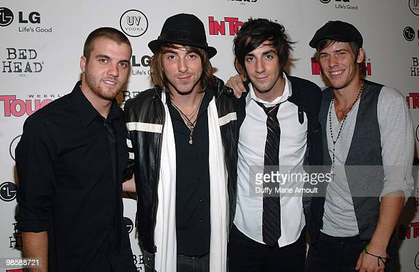 Band All Time Low attends the In Touch Weekly Icons Idols celebration at St Bart�s Cathedral on September 13 2009 in New York City