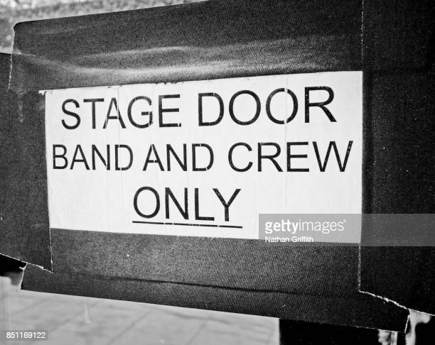 band and stage crew only door enrtrance - the doors band stock pictures, royalty-free photos & images