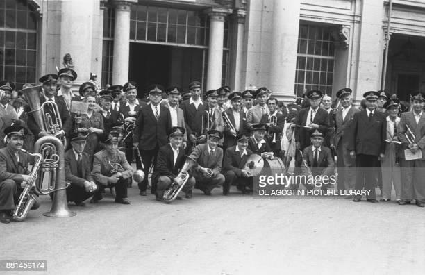 Band at the Sea Ceremony June 22 Genoa Italy 20th century