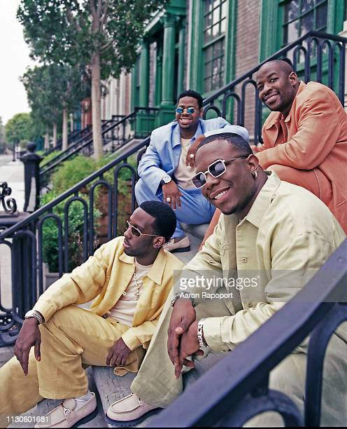 B band Boyz II Men pose for a portrait in session December 1997 in Los Angeles California