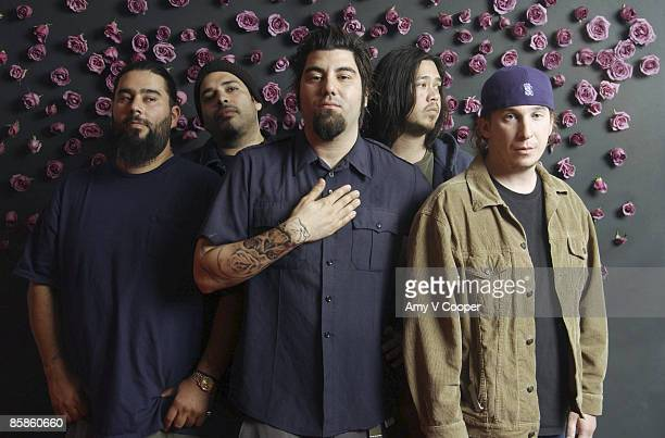 Band Deftones are photographed for MTVcom in New York