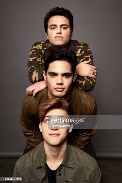 Liam Attridge Emery Kelly and Ricky Garcia is photographed for on January 9 2018 in Los Angeles California