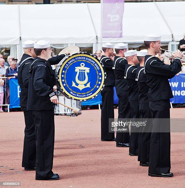 comusnaveur band (us navy); george square, glasgow - george square stock photos and pictures