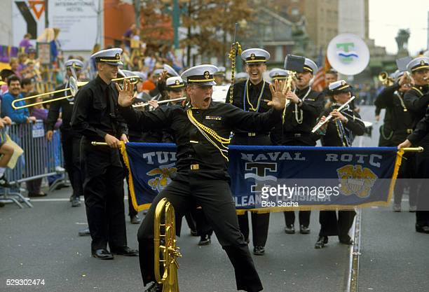 ROTC Band in Mardi Gras Parade