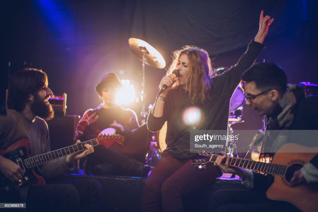 Band in the club : Stock Photo