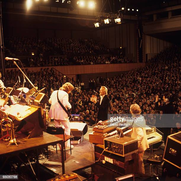Band leader James Last performs on stage in Brighton England in April 1983