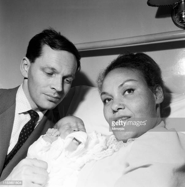 Band leader Johnnie Dankworth and his wife the singer Cleo Laine pictured with their new born son 18th May 1960