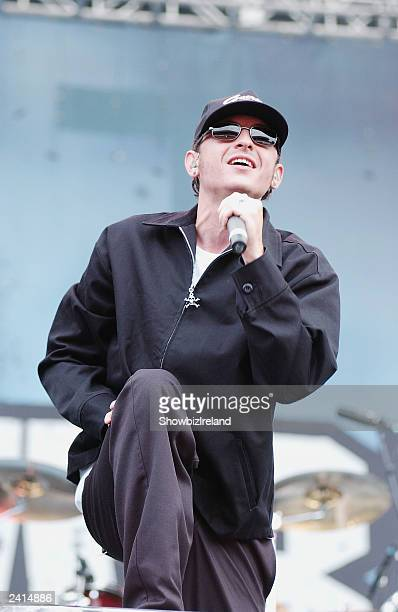 US band 'Linkin Park' support 'Metallica' at The RDS on August 20 2003 in Dublin Ireland