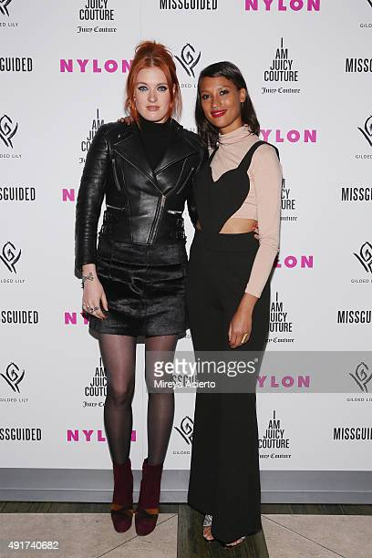 Band member from Icono Pop, Caroline Hjelt and Aino Jawo attend NYLON It Girl Prom at Gilded Lily on October 7, 2015 in New York City.