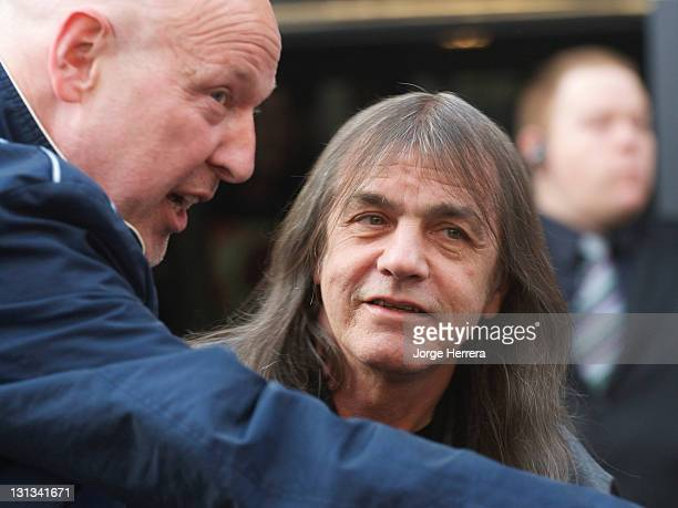 AC/DC band member Malcolm Young attends the Exclusive World Premiere Of AC/DC 'Live At River Plate' Presented By DeLeon Tequila at the HMV Apolo on...