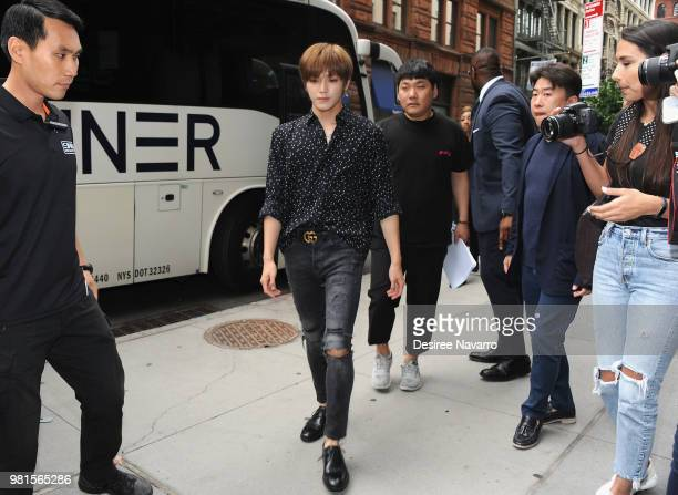 NCT 127 band member Taeyong visits Build Series to discuss KCON at Build Studio on June 22 2018 in New York City