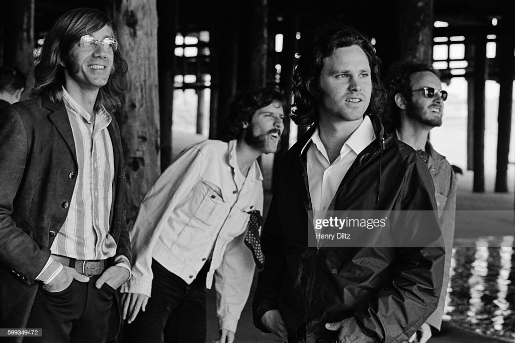 Band members are, left to right, Ray Manzarek, John Densmore, Jim Morrison, and Robbie Krieger.