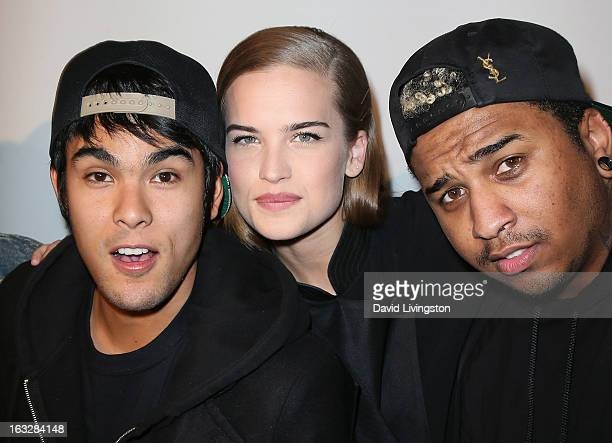 UGLY band members Braxton Olita Stormi Henley and Barry 'Mijo' Bradford attend the 7th Annual 'Stars Strikes' Celebrity Bowling and Poker Tournament...