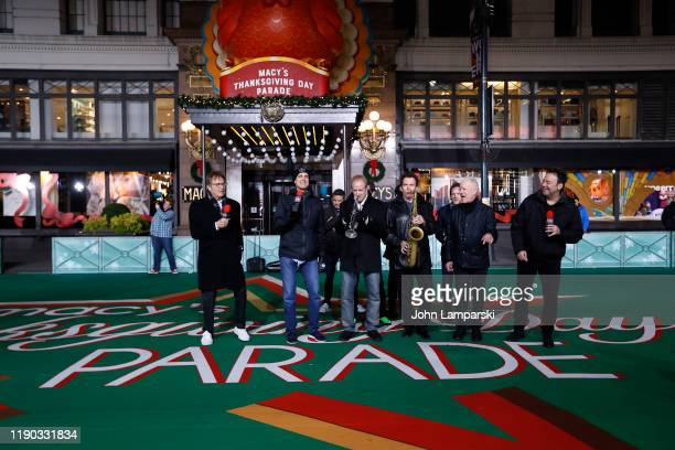 Band members from Chicago perform during the 93rd Annual Macy's Thanksgiving Day Parade rehearsals at Macy's Herald Square on November 26 2019 in New...