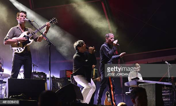FFS band members Nick McCarthy and Alex Kapranos of Scottish indie rock band Franz Ferdinand and Russell Mael and Ron Mael of US poprock band Sparks...