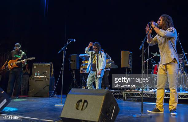 Band members of The Wailers perform onstage at The Wailers Celebrate The 30th Anniversary Of Their Iconic Album Legend In Los Angeles at Saban...