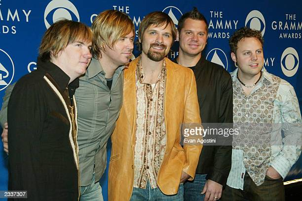 Band members of Third Day attend the 45th Annual Grammy Awards at Madison Square Garden on February 23 2003 in New York City