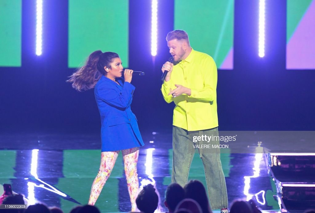 Band members Scott Hoying and Kirstin Maldonado of