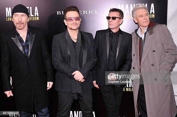 """Band members : The Edge, Bono, Larry Mullen, Jr. And Adam Clayton attend """"Mandela: Long Walk To Freedom"""" screening hosted by U2, Anna Wintour, Bob..."""