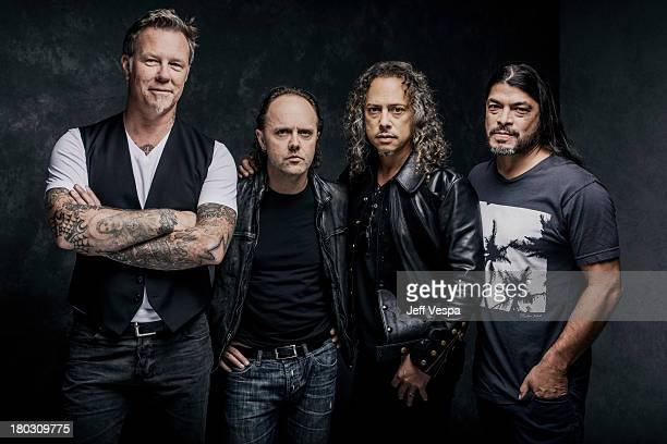Band Metallica is photographed at the Toronto Film Festival on September 9 2013 in Toronto Ontario