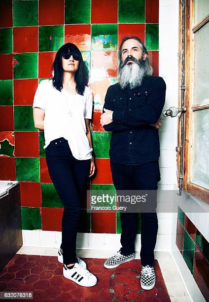Band Moon Duo is photographed for Self Assignment on June 1 2015 in Marseille France