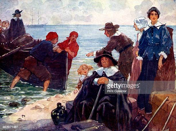 'A band of exiles moor'd their bark on the wild New England shore' The Puritans land on Plymouth Rock to found the first Quaker colony in America...
