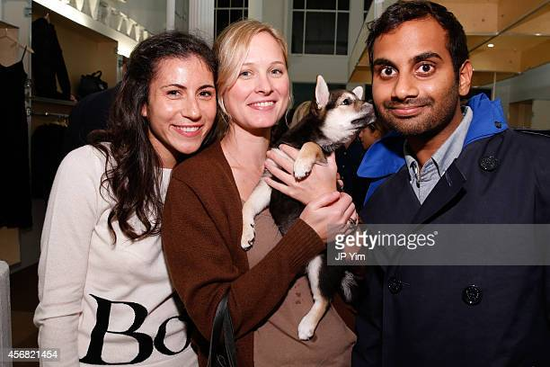Band of Outsiders' Nicole Cari guest and actor Aziz Ansari attend the Band of Outsiders and Bon Appetit Magazine celebration of the opening of Milk...
