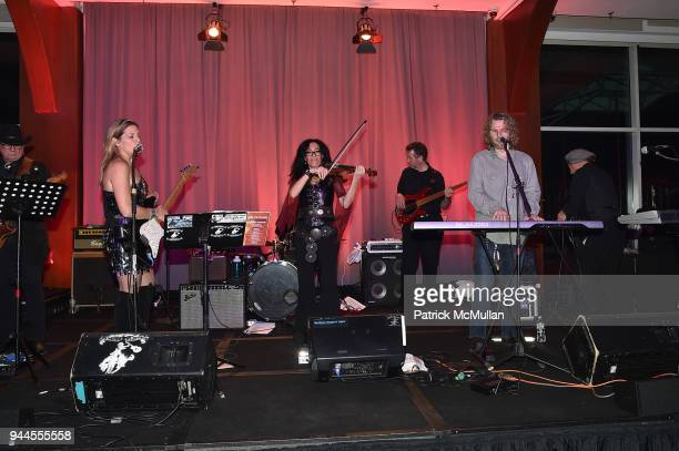 Band performes at the Alzheimer's Drug Discovery Foundation's Memories Matter at Pier 60 Chelsea Piers on April 10 2018 in New York City