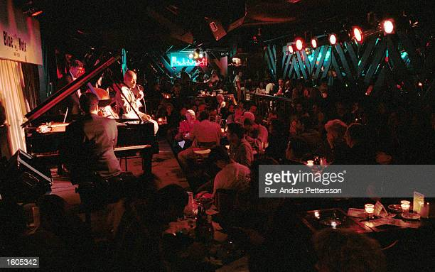 A band performs at the Blue Note jazz club May 23 1998 in New York City Blue Note is one of the best known jazz venues in New York