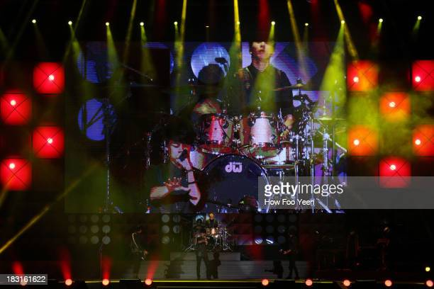 Band performs during the 13th Global Chinese Music Awards at Putra Stadium on October 5 2013 in Kuala Lumpur Malaysia