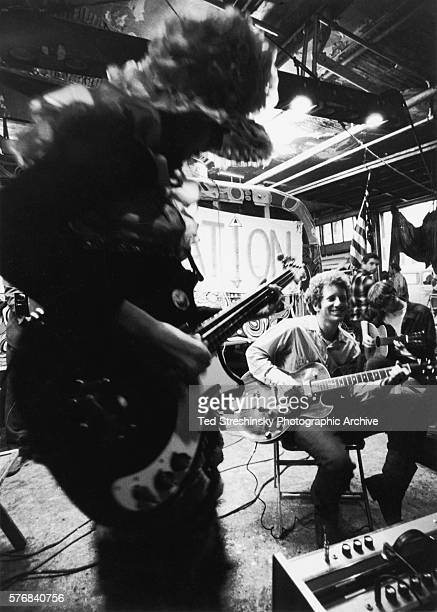 A band plays at the Merry Prankster's Acid Test Graduation where Ken Kesey presented his thoughts on leading the psychedelic movement beyond acid San...