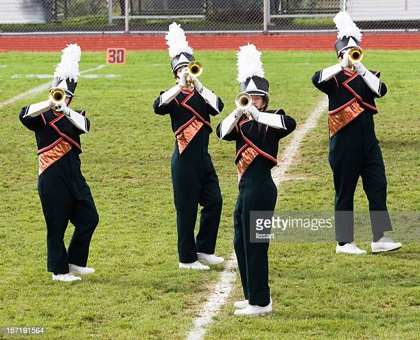 band plays on - marching band stock pictures, royalty-free photos & images