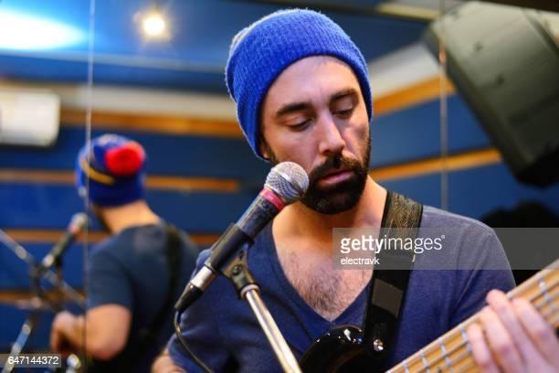 band practice - ベースギター ストックフォトと画像