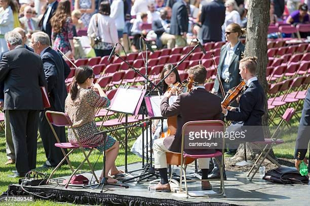 band practices at phillips exeter academy boarding school graduation ceremony - graduation crowd stock pictures, royalty-free photos & images