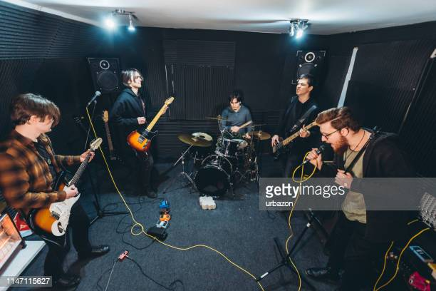 band rehearsal - rehearsal stock pictures, royalty-free photos & images