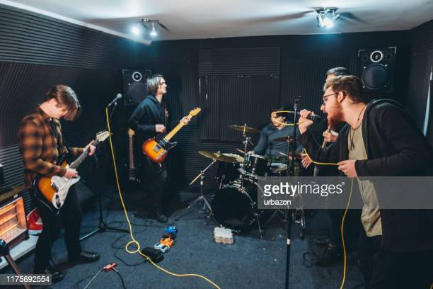 band rehearsal - performance group stock pictures, royalty-free photos & images