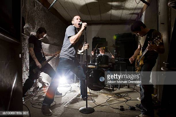 band rehearsing in practice space - rehearsal stock pictures, royalty-free photos & images