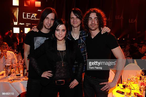 Band Silbermond attend the 'LEA Live Entertainment Award 2010' at Color Line Arena on April 15 2010 in Hamburg Germany