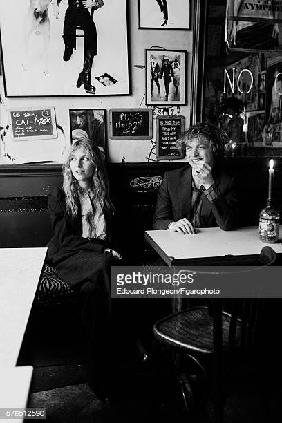 Band Singtank is photographed for Madame Figaro on May 9 2016 in Paris France Josephine de la Baume and Alexandre de la Baume Suits and shirts...