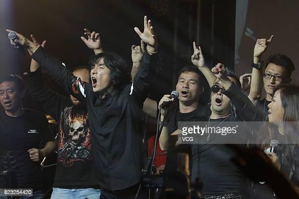 Band Tang Dynasty perform onstage during their concert at Kowloonbay International Trade & Exhibition Centre on November 11, 2016 in Hong Kong, China.