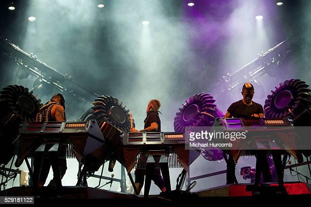 EDM band the Glitch Mob perform at the 2014 Festival D'ete De Quebec