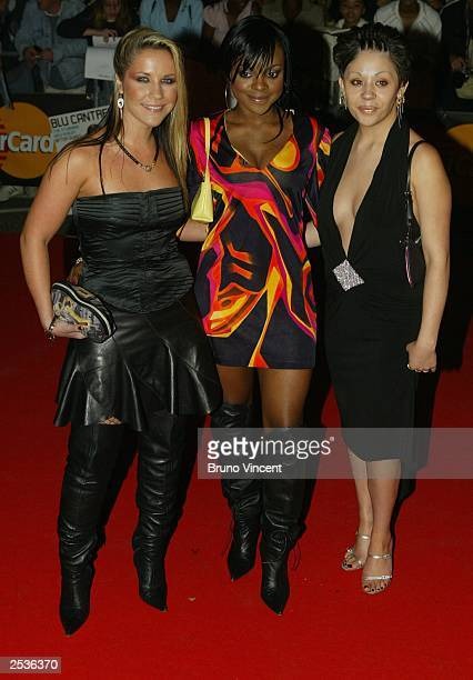 Band The Sugababes arrive at the MOBO Awards at the Royal Albert Hall September 25 2003 in London