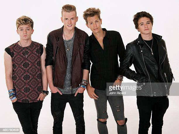 Band The Vamps are photographed for Word Up on June 18 2014 in Newark New Jersey